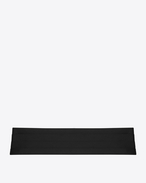 SAINT LAURENT Wide Belts U SMOKING 4 Pleat Cummerbund in Black f