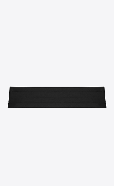SAINT LAURENT Wide Belts Man SMOKING 4 Pleat Cummerbund in Black a_V4