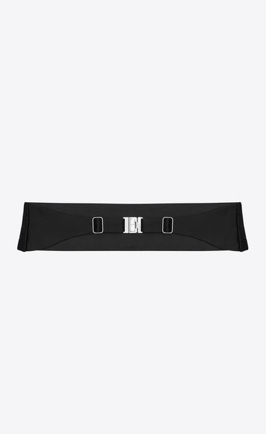 SAINT LAURENT Wide Belts Man SMOKING 4 Pleat Cummerbund in Black b_V4
