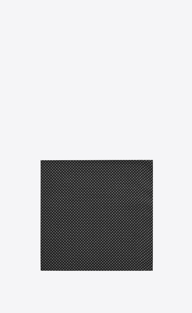 SAINT LAURENT Squared Scarves U YVES Square Scarf in Black and White cotton v4