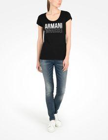 ARMANI EXCHANGE LIVED IN LOGO SCOOP NECK TEE Logo-T-Shirt Damen a