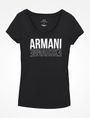 ARMANI EXCHANGE LIVED IN LOGO SCOOP NECK TEE Logo-T-Shirt Damen b