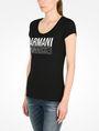 ARMANI EXCHANGE LIVED IN LOGO SCOOP NECK TEE Logo-T-Shirt Damen d