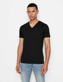 ARMANI EXCHANGE PIMA V-NECK TEE Pima Tee [*** pickupInStoreShippingNotGuaranteed_info ***] f