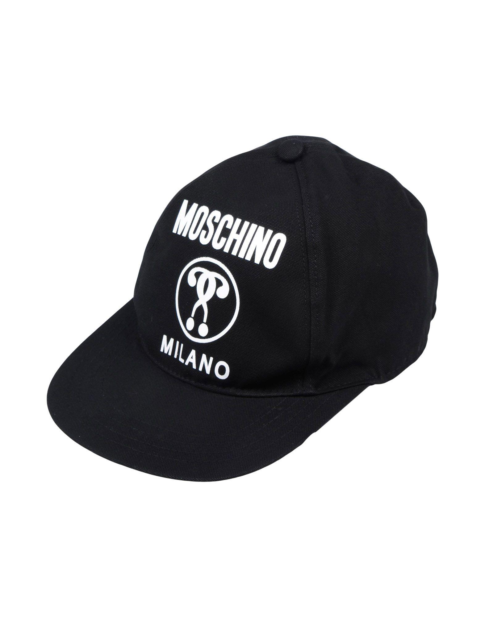 《送料無料》MOSCHINO Unisex 帽子 ブラック M コットン 100%