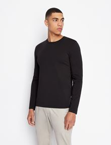 ARMANI EXCHANGE LONG-SLEEVE CREWNECK PIMA TEE Pima Tee [*** pickupInStoreShippingNotGuaranteed_info ***] f