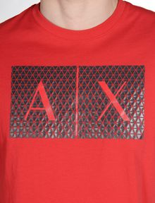 ARMANI EXCHANGE TRIANGLE LOGO T-SHIRT Logo T-shirt Man e