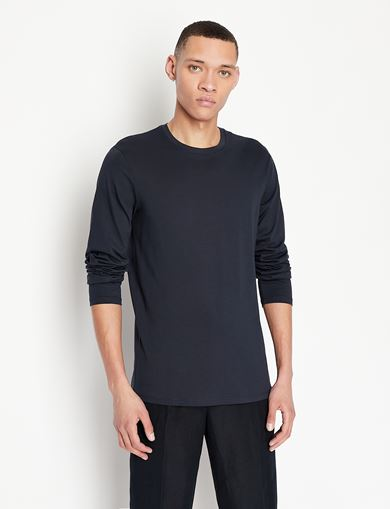LONG SLEEVE PIMA CREWNECK T-SHIRT