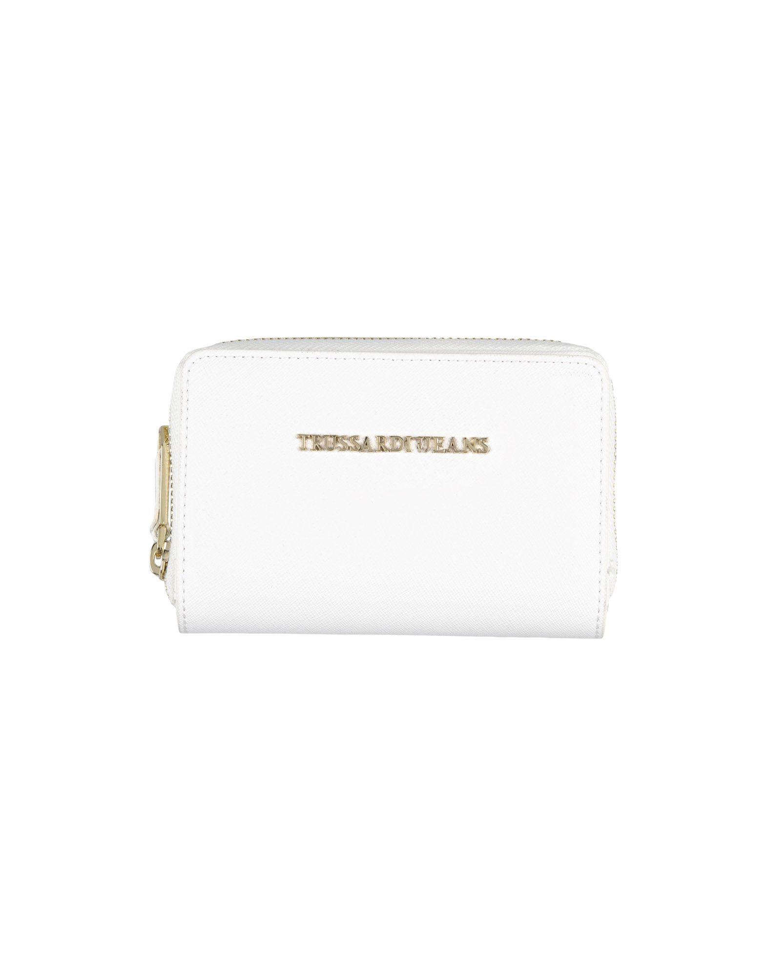 《期間限定 セール開催中》TRUSSARDI JEANS レディース 財布 ホワイト ポリウレタン 100%