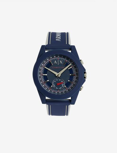 NAVY SILICONE BAND HYBRID SPORTSWATCH