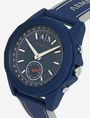 ARMANI EXCHANGE NAVY SILICONE BAND HYBRID SPORTSWATCH Watch E r