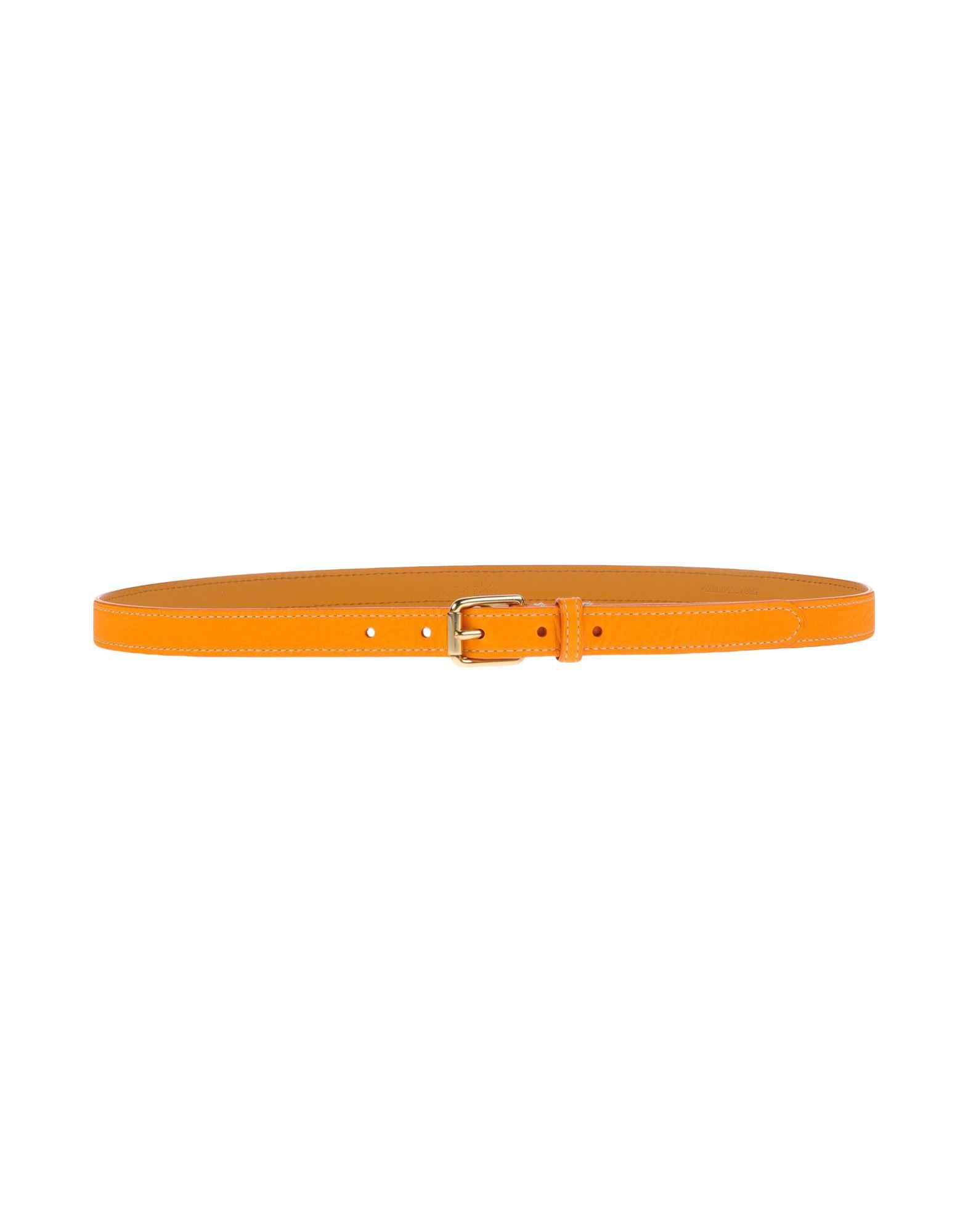 《セール開催中》POLO RALPH LAUREN レディース ベルト オレンジ S 革