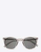SAINT LAURENT CLASSIC E Classic 28 Sunglasses in white Acetate with Light Silver Mirrored Lenses f