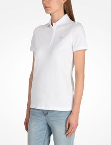 ARMANI EXCHANGE CIRCLE SIGNATURE POLO SHORT SLEEVES POLO Woman d