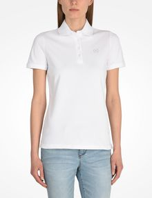 ARMANI EXCHANGE CIRCLE SIGNATURE POLO SHORT SLEEVES POLO Woman f