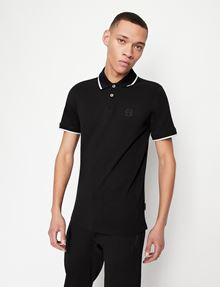 ARMANI EXCHANGE CONTRAST TIPPING LOGO POLO SHORT SLEEVES POLO [*** pickupInStoreShippingNotGuaranteed_info ***] f