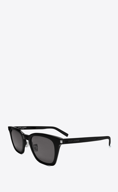 SAINT LAURENT CLASSIC E CLASSIC 138 Slim Sunglasses in Shiny Black Acetate with Smoke Lenses b_V4