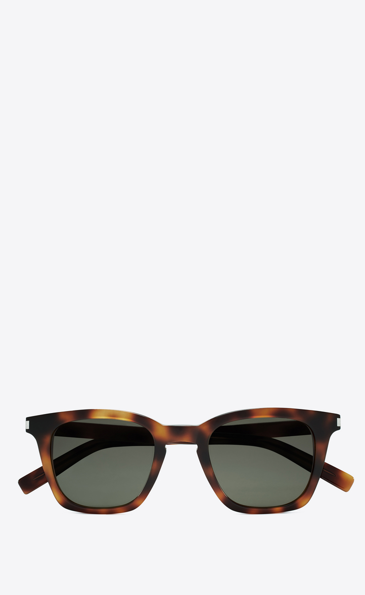 Saint Laurent Slim Sonnenbrille aus Havana Acetat NjKY0nk9Y