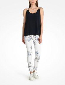 ARMANI EXCHANGE FLORAL PRINT SUPER SKINNY JEANS Skinny jeans D a