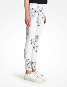 ARMANI EXCHANGE FLORAL PRINT SUPER SKINNY JEANS Skinny Fit Denim D d