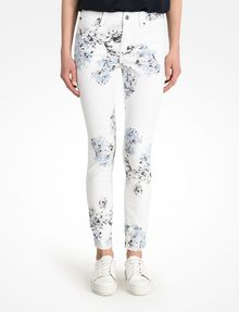 ARMANI EXCHANGE FLORAL PRINT SUPER SKINNY JEANS Skinny Fit Denim D f
