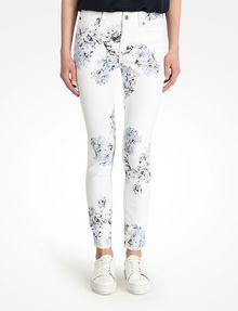 ARMANI EXCHANGE FLORAL PRINT SUPER SKINNY JEANS Skinny jeans D f