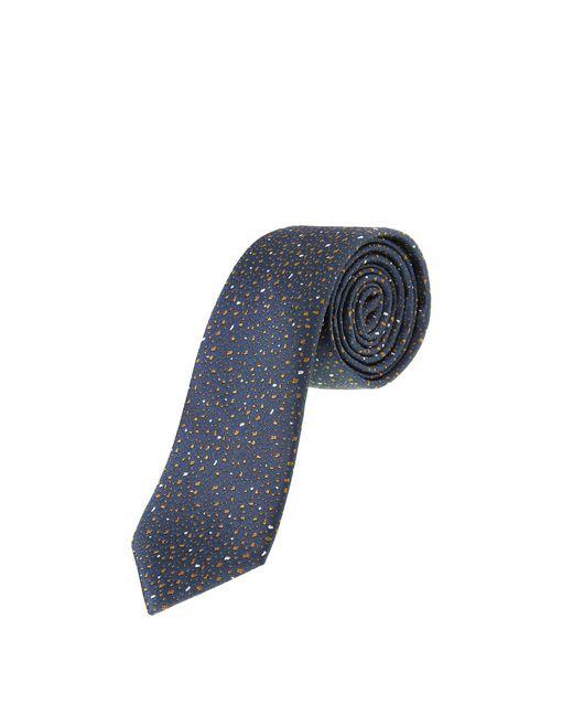 lanvin navy blue hail pattern tie men