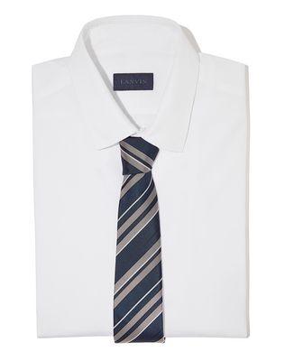 LANVIN NAVY BLUE CLUB TIE Tie U r