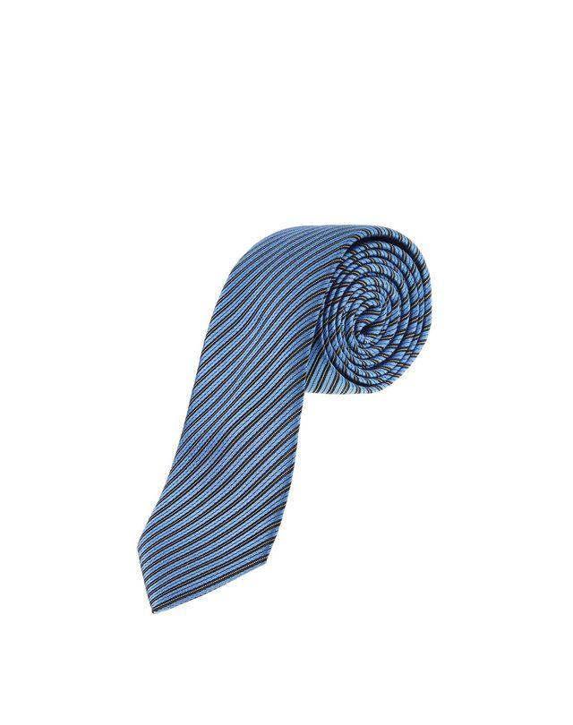 LANVIN NAVY BLUE STRIPE TIE Tie U f