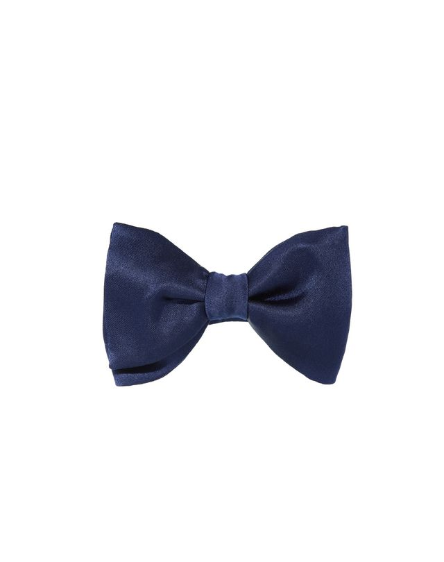 "LANVIN ""NEW FANCY"" NAVY BLUE BOW TIE Bow tie U f"