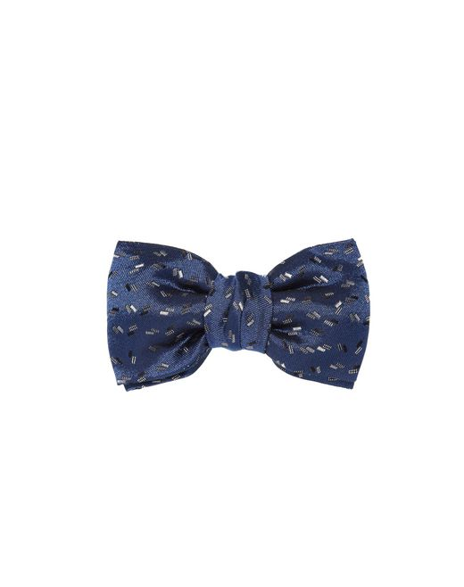 "lanvin navy blue ""paris"" bow tie men"