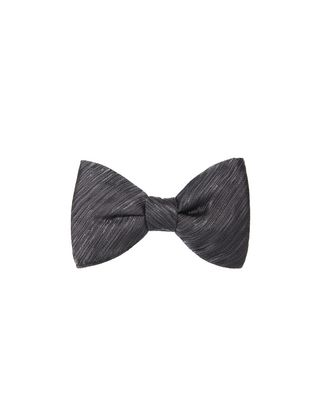 """NEW FANCY"" GREY BOW TIE"