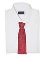 LANVIN Tie Man RED HAIL PATTERN TIE f