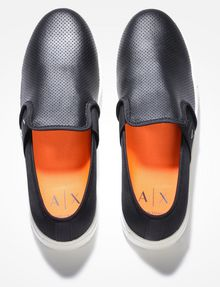 ARMANI EXCHANGE PERFORATED SLIP-ON SNEAKERS SLIP-ON Man e