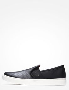 ARMANI EXCHANGE PERFORATED SLIP-ON SNEAKERS Slipper Herren f