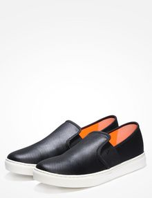 ARMANI EXCHANGE PERFORATED SLIP-ON SNEAKERS Slipper Herren r