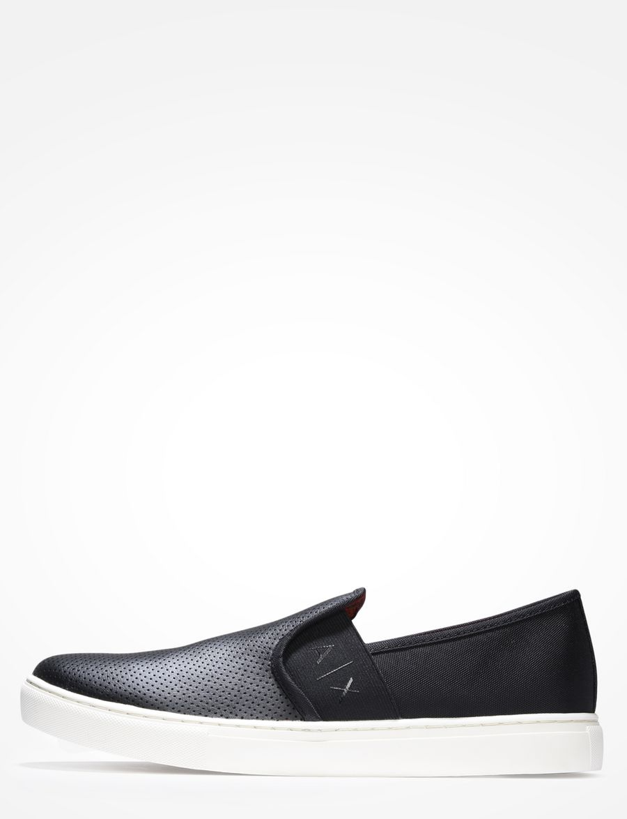2238936dccc Armani Exchange PERFORATED SLIP ON SNEAKERS
