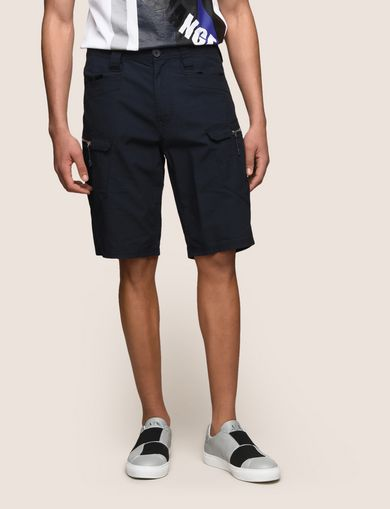 SIDE-ZIP CARGO SHORTS