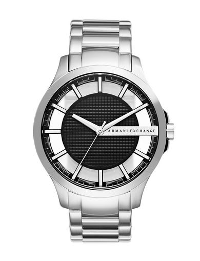 SLEEK BRUSHED SILVER-TONE WATCH