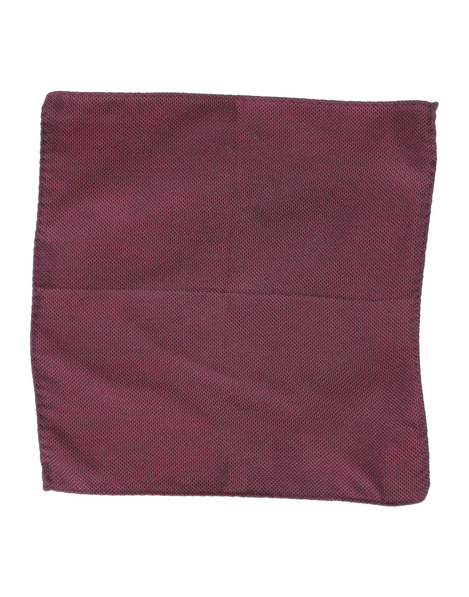 【送料無料】DSQUARED2 メンズ スカーフ ボルドー シルク 100%