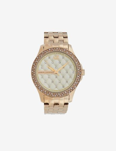 QUILTED STYLE STAINLESS STEEL WATCH