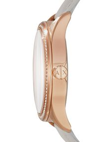 ARMANI EXCHANGE ROSE GOLD-TONE GLAM WATCH Uhr Damen d