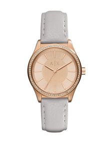 ARMANI EXCHANGE ROSE GOLD-TONE GLAM WATCH Uhr Damen f