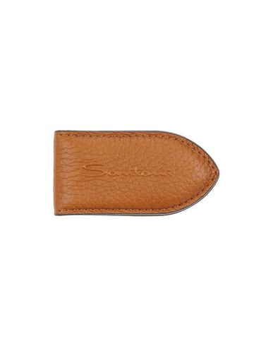 SANTONI メンズ 財布 キャメル 革