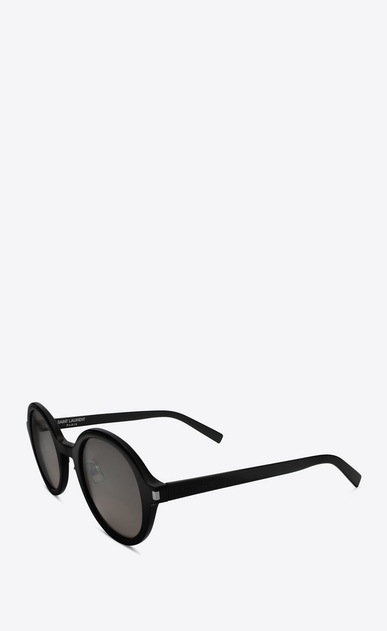 SAINT LAURENT CLASSIC E CLASSIC 161 Slim Sunglasses in Shiny Black Acetate with Smoke Lenses b_V4