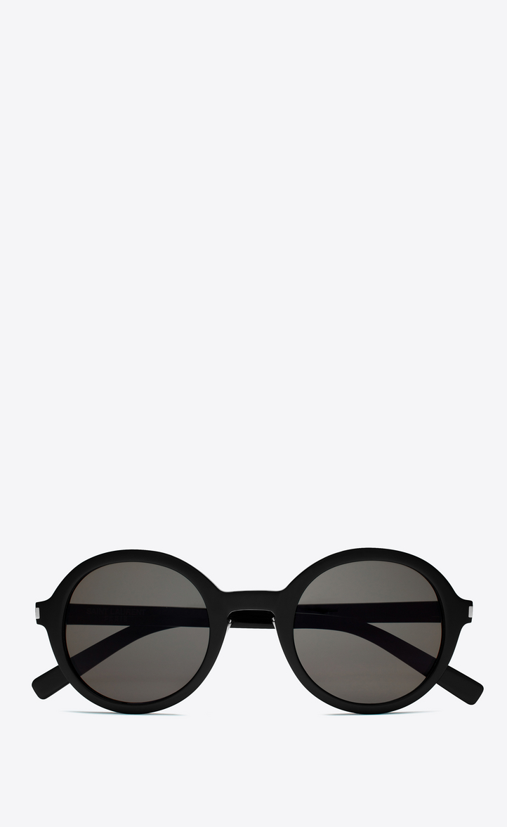 f8ffe28c755 Saint Laurent CLASSIC 161 Slim Sunglasses In Shiny Black Acetate ...