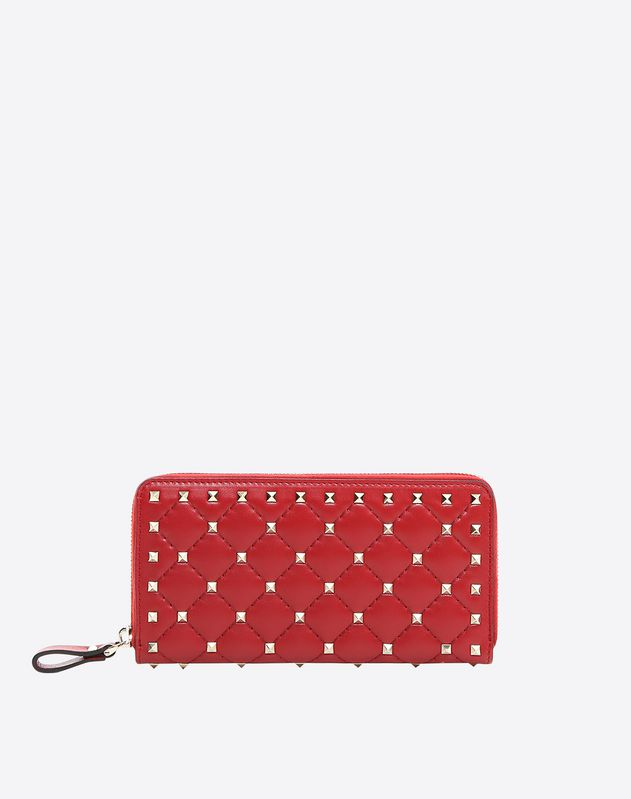 fee173af8b Rockstud Spike Continental Wallet for Woman | Valentino Online Boutique