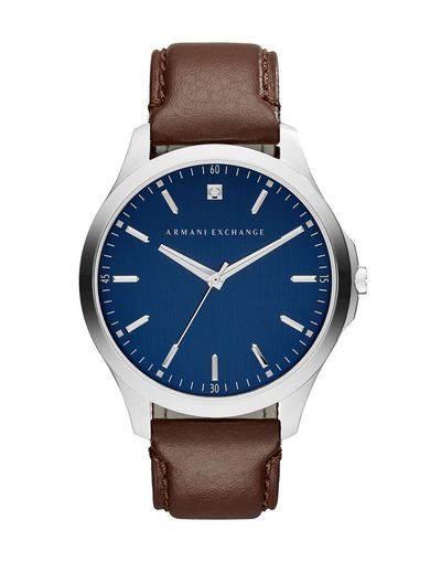 LEATHER A|X BLUE WATCH