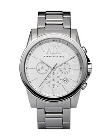 ARMANI EXCHANGE CRONOGRAFO IN ACCIAIO INOX LUCIDO Watch Man f