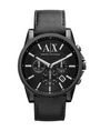 ARMANI EXCHANGE LEATHER LOGO BUCKLE WATCH Uhr Herren f